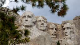 Mount Rushmore National Memorial on April 23, 2020, in Keystone, South Dakota.