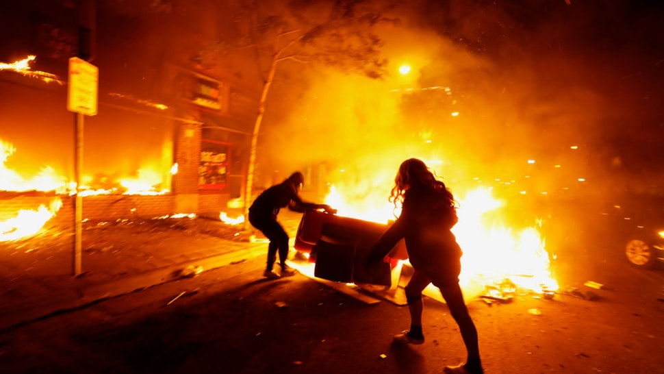 Despite a curfew, protests and looting went all throughout the night in various parts of the city of Minneapolis on Friday night, May 29, 2020.