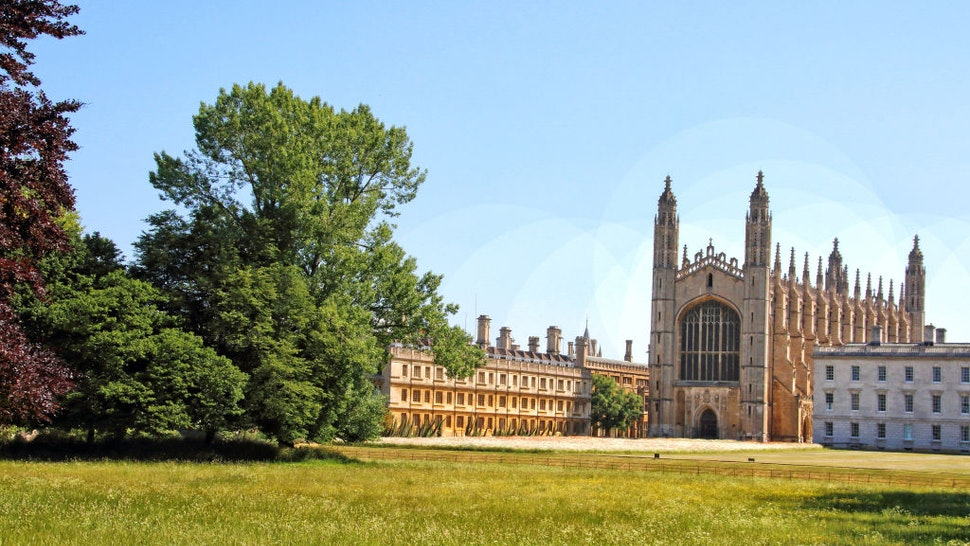 Kings College, Cambridge is pictured deserted due to the coronavirus outbreak. Cambridge University has announced that there will be no face-to-face lectures over the course of the next 2020/2021 academic year due to COVID-19.