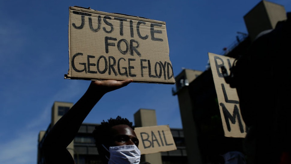 Protesters demonstrate against the death of George Floyd on May 31, 2020 in Minneapolis, Minnesota.