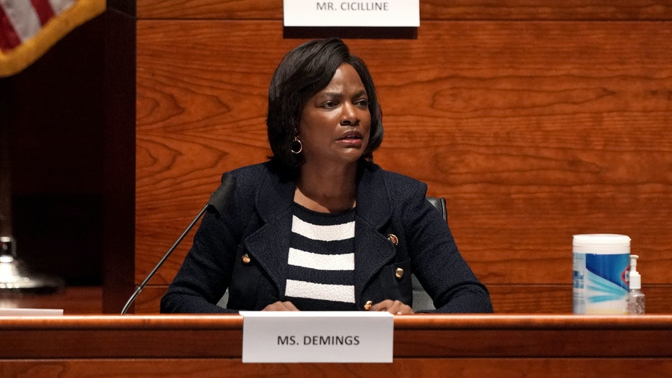 WASHINGTON, DC - JUNE 10: U.S. Rep. Val Demings (D-FL) questions witnesses at a House Judiciary Committee hearing on police brutality and racial profiling on June 10, 2020 in Washington, DC. George Floyd died May 25 while in Minneapolis police custody, sparking worldwide protests. (Photo by Greg Nash-Pool/Getty Images)