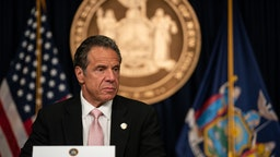 New York Gov. Andrew Cuomo speaks during the daily media briefing at the Office of the Governor of the State of New York on June 12, 2020 in New York City.