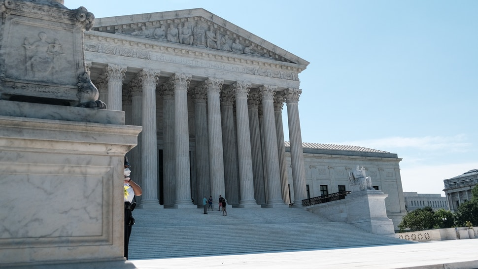 WASHINGTON, DC - JUNE 25: The U.S. Supreme Court building is seen on June 25, 2020 in Washington, DC. The Supreme Court is expected to issue a ruling on abortion rights soon. (Photo by Michael A. McCoy/Getty Images)