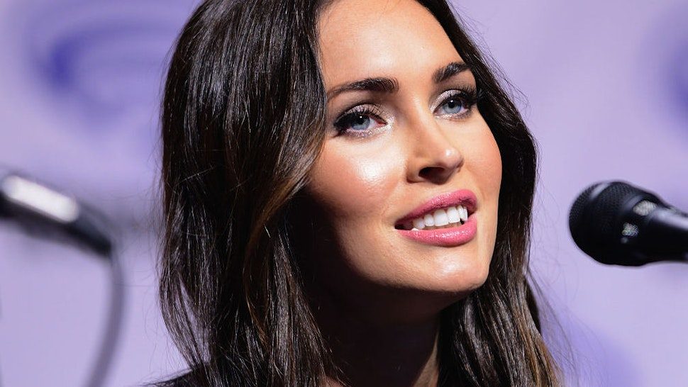 """Actress Megan Fox promoting Teenage Mutant Ninja Turtles: Out Of The Shadows"""" on Day 1 of WonderCon held at Los Angeles Convention Center on March 25, 2016 in Los Angeles, California."""