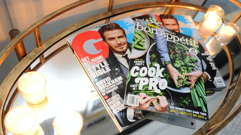 NEW YORK, NEW YORK - APRIL 11: GQ magazine is offered as Bon Appetit And GQ Celebrate The Education Of A (Non) Foodie With Daniel Boulud at One World Trade Center on April 11, 2016 in New York City. (Photo by Craig Barritt/Getty Images for GQ)