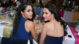 TORONTO, ON - MAY 31: Actress Meghan Markle and Jessica Mulroney attend the Instagram Dinner held at the MARS Discovery District on May 31, 2016 in Toronto, Canada. (Photo by George Pimentel/WireImage)