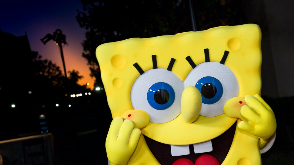 LOS ANGELES, CA - OCTOBER 24: Spongebob Squarepants arrives at the 2017 Princess Grace Awards Gala Kick Off Event at Paramount Pictures on October 24, 2017 in Los Angeles, California. (Photo by Greg Doherty/Getty Images)