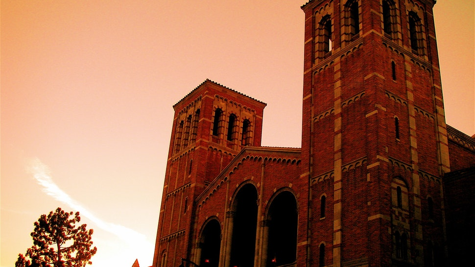 Sunset over Royce Hall, UCLA