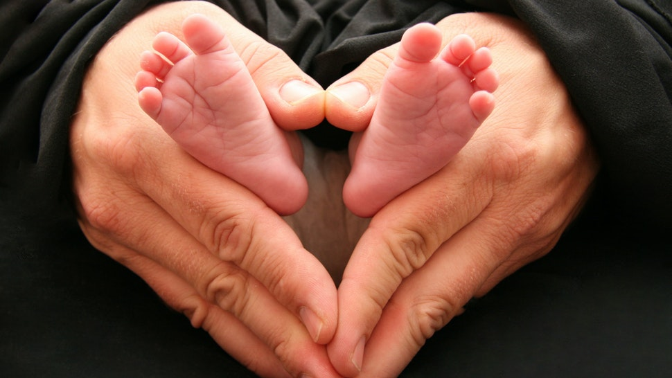 tiny baby's feet