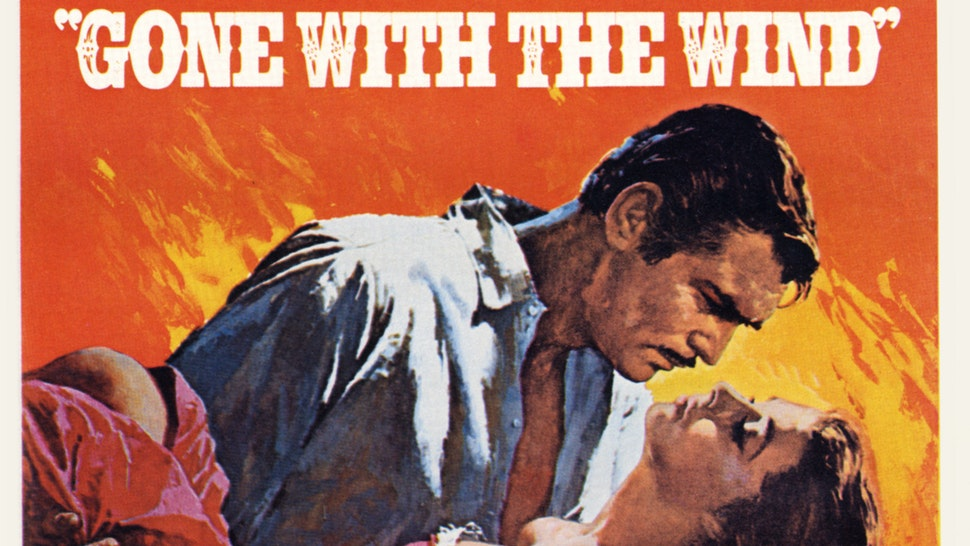 Gone with the Wind. Movie poster of the film directed by Victor Fleming and starring Clark Gable and Vivien Leigh. Unites States, 1939.