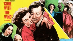 'Gone with the Wind' film poster, 1939 - starring Vivien Leigh and Clark Gable.