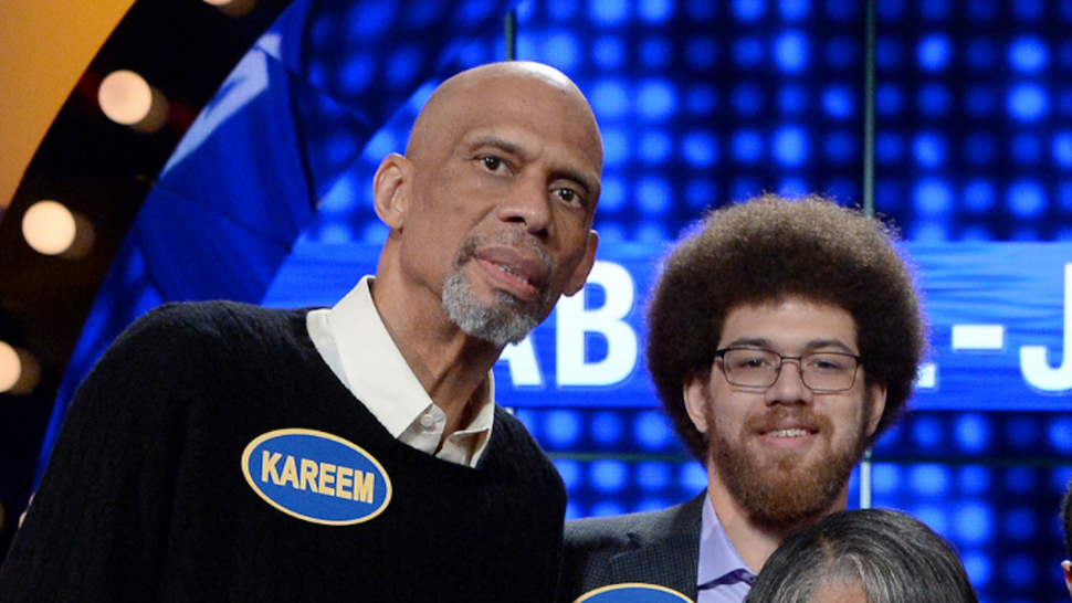 """CELEBRITY FAMILY FEUD - """"Harvey Family Men vs Harvey Family Women and Kareem Abdul-Jabbar vs Ralph Sampson""""- The celebrity teams competing to win cash for their charities features Steve Harvey's wife, Marjorie Harvey, leading a team with their sons and sons-in-law, and the other team will be led by Mrs. Harvey's mother and the Harvey daughters. In a separate game, family members from the NBA's all-time leading scorer and six-time NBA champion Kareem Abdul-Jabbar will take on retired NBA Legend Ralph Sampson and his family. This episode of """"Celebrity Family Feud"""" airs SUNDAY, JUNE 25 (8:00-9:00 p.m. EDT), on The Walt Disney Television via Getty Images Television Network.."""