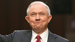 Attorney General Jeff Sessions is sworn-in before testifying during a US Senate Select Committee on Intelligence hearing on Capitol Hill in Washington, DC, June 13, 2017.