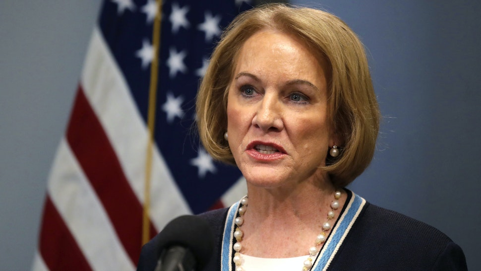SEATTLE, WA - MARCH 16: Seattle Mayor Jenny Durkan speaks at a news conference about the coronavirus outbreak Monday, March 16, 2020, in Seattle. Gov. Jay Inslee ordered all bars, restaurants, entertainment and recreation facilities to temporarily close to fight the spread of COVID-19 in the state with by far the most deaths in the U.S. from the disease.