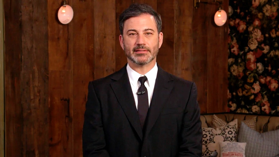 """UNSPECIFIED LOCATION - APRIL 18: In this screengrab, Jimmy Kimmel, speaks during """"One World: Together At Home"""" presented by Global Citizen on April, 18, 2020. The global broadcast and digital special was held to support frontline healthcare workers and the COVID-19 Solidarity Response Fund for the World Health Organization, powered by the UN Foundation."""
