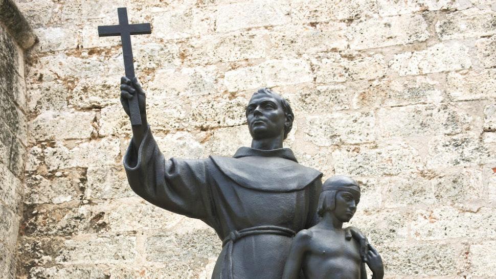 Old Havana, Cuba - June 7, 2017: A replica of the sculpture by artist Horacio de Eguia 1914 to 1991. The original one is in the Plaza de San Francisco in Palma de Mallorca.