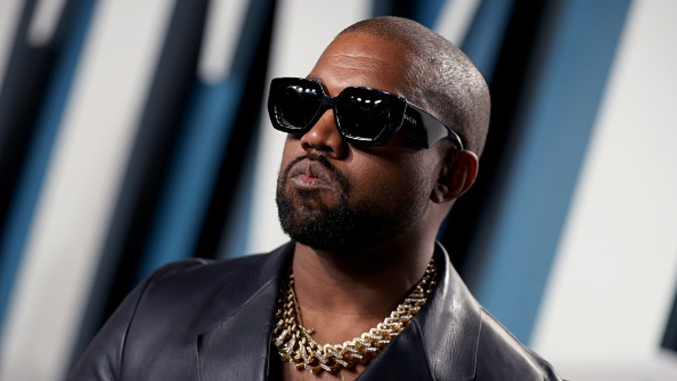 BEVERLY HILLS, CALIFORNIA - FEBRUARY 09: Kanye West attends the 2020 Vanity Fair Oscar Party hosted by Radhika Jones at Wallis Annenberg Center for the Performing Arts on February 09, 2020 in Beverly Hills, California.