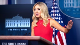 White House Press Secretary Kayleigh McEnany speaks to the press on June 10, 2020, in the Brady Briefing Room of the White House in Washington, DC.