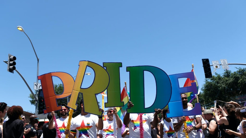 WEST HOLLYWOOD, CALIFORNIA - JUNE 09: A general view of atmosphere at LA Pride 2019 on June 9, 2019 in West Hollywood, California.