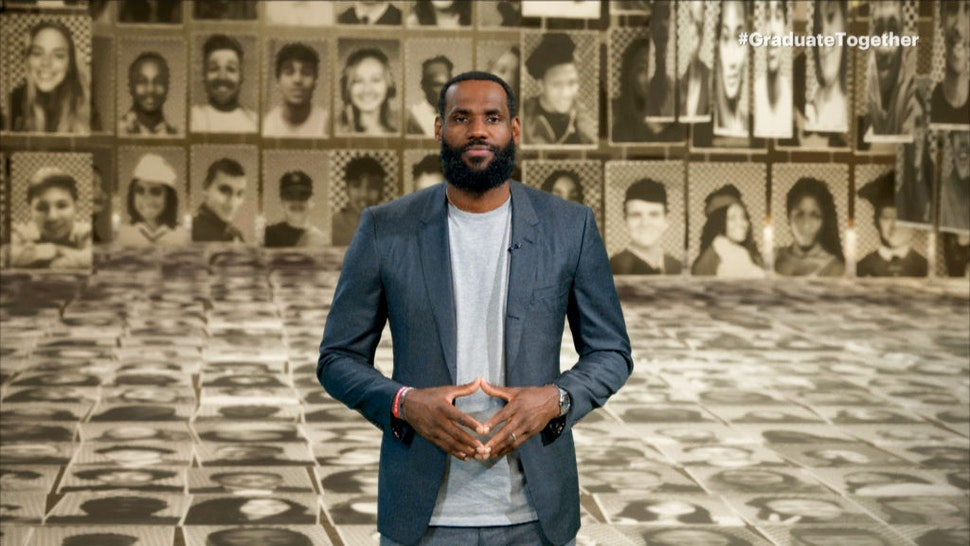 MAY 16: In this screengrab, LeBron James speaks during Graduate Together: America Honors the High School Class of 2020 on May 16, 2020. (Photo by Getty Images/Getty Images for EIF & XQ)