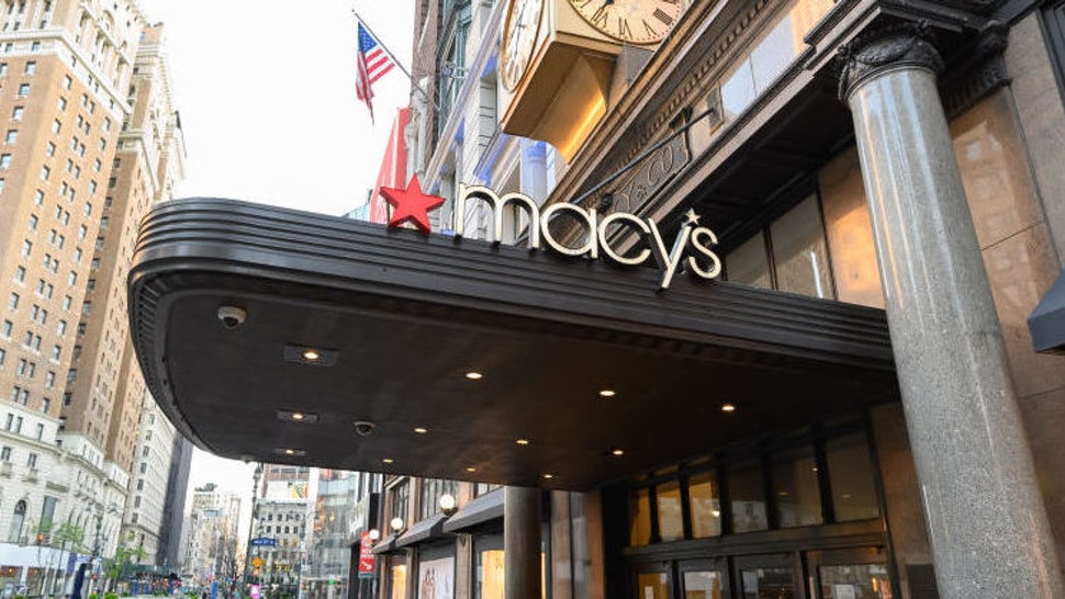 A view outside Macy's Harald Square during the coronavirus pandemic on April 22, 2020 in New York City. COVID-19 has spread to most countries around the world, claiming over 184,000 lives lost with over 2.6 million infections reported. (Photo by Noam Galai/Getty Images)