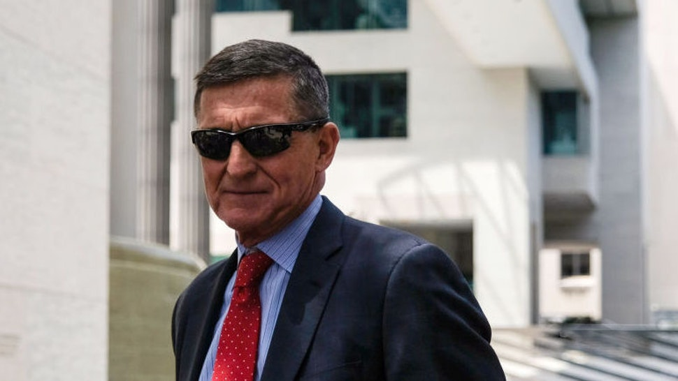 Former Trump national security advisor Michael Flynn leaves the E. Barrett Prettyman U.S. Courthouse on June 24, 2019 in Washington, DC. Flynn is expected to testify again on July 15. (Photo by Alex Wroblewski/Getty Images)