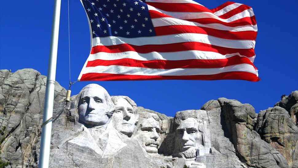 A very patriotic monument, Mount Rushmore is a giant granite cliff in South Dakota with the heads of four US presidents - Washington, Lincoln, Jefferson and Roosevelt (Teddy) - carved into it.It's big. Very big.