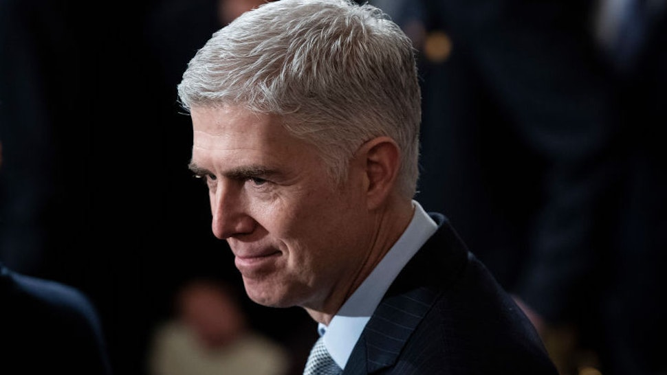 U.S. Supreme Court Associate Justice Neil M. Gorsuch waits for the arrival of former U.S. President George H.W. Bush at the U.S Capitol Rotunda on December 03, 2018 in Washington, DC. A WWII combat veteran, Bush served as a member of Congress from Texas, ambassador to the United Nations, director of the CIA, vice president and 41st president of the United States. A state funeral for Bush will be held in Washington over the next three days, beginning with him lying in state in the U.S. Capitol Rotunda until Wednesday morning. (Photo by Jabin Botsford - Pool/Getty Images)