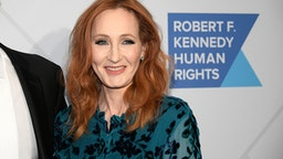 NEW YORK, NEW YORK - DECEMBER 12: Author J.K. Rowling arrives at the RFK Ripple of Hope Awards at New York Hilton Midtown on December 12, 2019 in New York City.