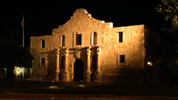 Night Time Photo Of The Famous Historic Alamo In San Antonio Texas. Don Despain Of Rekindle.