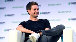 SAN FRANCISCO, CALIFORNIA - OCTOBER 04: Snap Inc. Co-Founder & CEO Evan Spiegel speaks onstage during TechCrunch Disrupt San Francisco 2019 at Moscone Convention Center on October 04, 2019 in San Francisco, California.