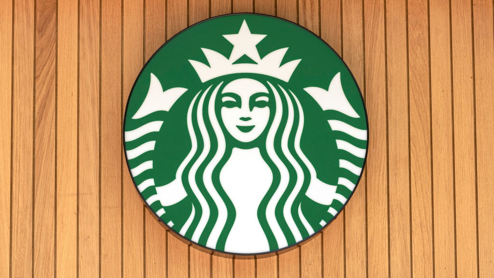 LONDON, UNITED KINGDOM - 2020/06/02: Starbucks logo seen on one of their branches.