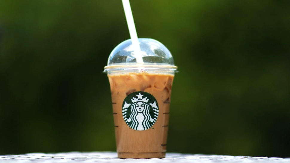 SOUTHAMPTON, ENGLAND - MAY 15: A photo illustration of a beverage from Starbucks in Hedge End, Southampton after the store reopens for take away on May 15, 2020 in Southampton, England . The prime minister announced the general contours of a phased exit from the current lockdown, adopted nearly two months ago in an effort curb the spread of Covid-19.