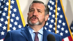 Senator Ted Cruz, a Republican from Texas, speaks during a news conference following the weekly Senate Republican caucus luncheon in Washington, D.C., U.S., on Tuesday, June 2, 2020. Senate Majority Leader Mitch McConnell will attempt to expedite approval of changes to the popular Paycheck Protection Program aimed at giving small businesses more flexibility in using the money from the fund, according to Senate aides.