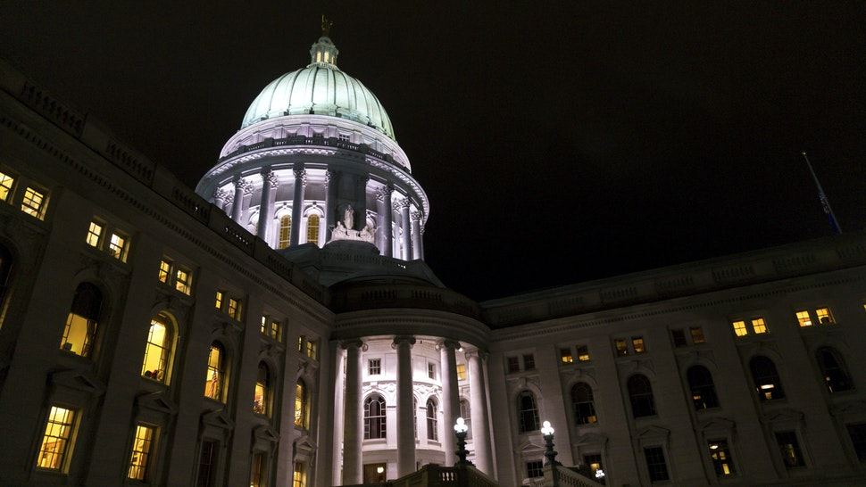 MADISON, WI - DECEMBER 04: The Wisconsin State Capitol where late night debate is taking place over contentious legislation December 4, 2018 in Madison, Wisconsin. Wisconsin Republicans are trying to pass a series of proposals that will weaken the authority of Gov.-elect Tony Evers and incoming Democratic Attorney General Josh Kaul.