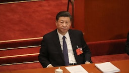 BEIJING, CHINA - MAY 22: Chinese President Xi Jinping attends the opening of the National People's Congress at The Great Hall Of The People on May 22, 2020 in Beijing, China. China is holding now its annual Two Sessions political meetings, that were delayed since March due to the Covid19 outbreak. (Photo by Andrea Verdelli/Getty Images)