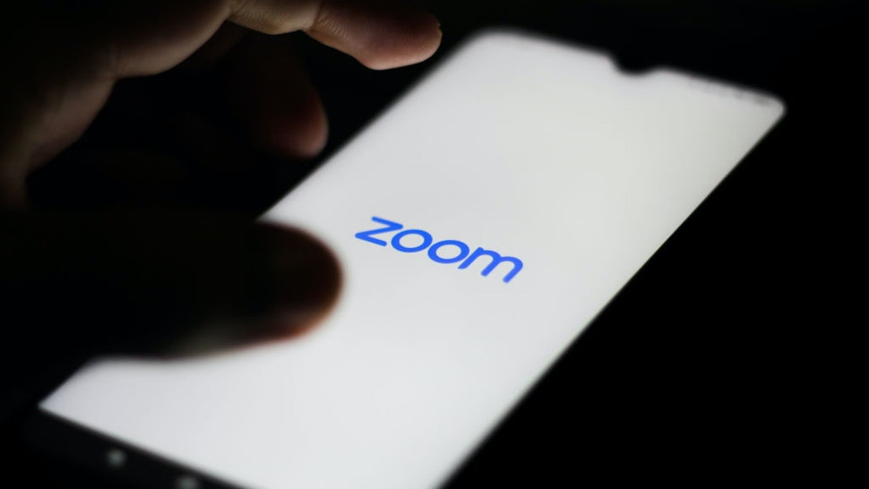 BRAZIL - 2020/05/25: In this photo illustration a Zoom Video logo seen displayed on a smartphone. (