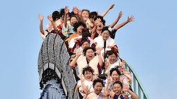 "Twenty-year-old women wearing kimonos ride a rollercoaster after attending a ""Coming-of-Age Day"" celebration at the Toshimaen amusement park in Tokyo on January 11, 2016. The number of people celebrating ""Coming-of-Age Day"" in 2016, or adulthood - high by world standards at age 20 - is estimated to stand at 1.21 million, a decrease of 50,000 from the previous year. Every January, Japanese turning 20 celebrate Coming of Age Day, in which the new adults dress in formal kimonos, pray at Shinto shrines and hear speeches from local officials on their new responsibilities. / AFP / KAZUHIRO NOGI (Photo credit should read"