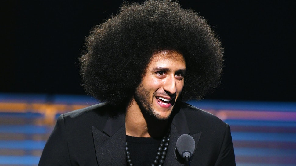 NEW YORK, NY - DECEMBER 05: Colin Kaepernick receives the SI Muhammad Ali Legacy Award during SPORTS ILLUSTRATED 2017 Sportsperson of the Year Show on December 5, 2017 at Barclays Center in New York City. Tune in to NBCSN on December 8 at 8 p.m. ET or Univision Deportes Network on December 9 at 8 p.m. ET to watch the one hour SPORTS ILLUSTRATED Sportsperson of the Year special.