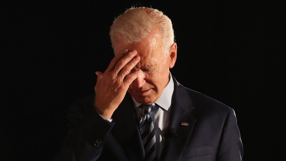 DES MOINES, IOWA - JULY 15: Democratic presidential candidate former U.S. Vice President Joe Biden pauses as he speaks during the AARP and The Des Moines Register Iowa Presidential Candidate Forum at Drake University on July 15, 2019 in Des Moines, Iowa. Twenty Democratic presidential candidates are participating in the forums that will feature four candidate per forum, to be held in cities across Iowa over five days. (Photo by