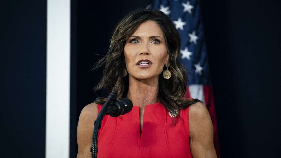 Kristi Noem, governor of South Dakota Governor, speaks during an event at Mount Rushmore National Memorial in Keystone, South Dakota, U.S., on Friday, July 3, 2020.