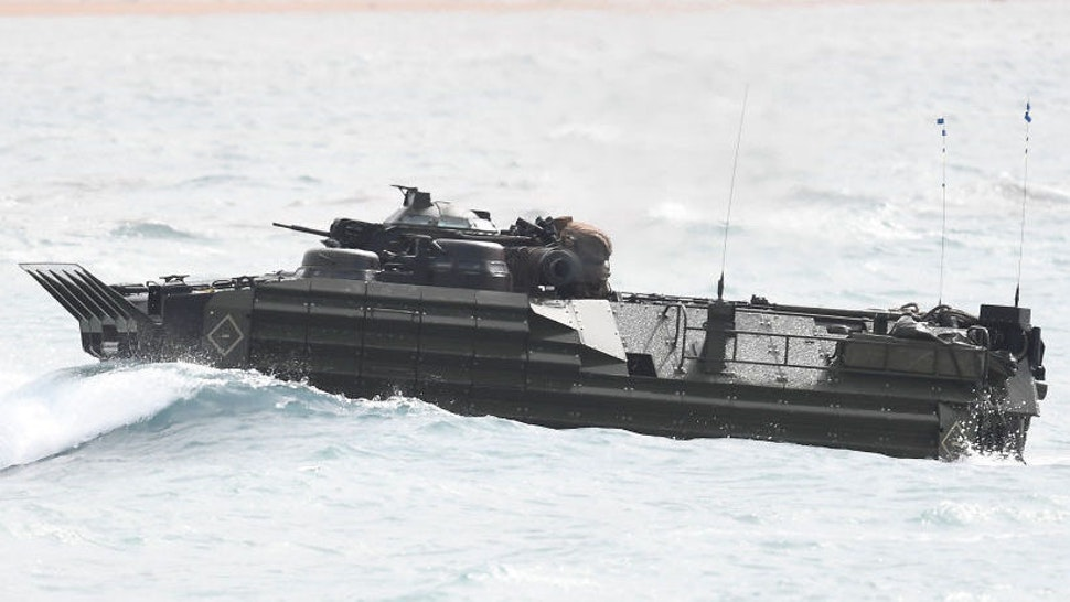 Amphibious assault vehicle.