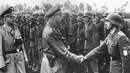 District Galicia Ss Troops Review By Himmler And Dr Wachter In Germany On June 3Rd 1944.