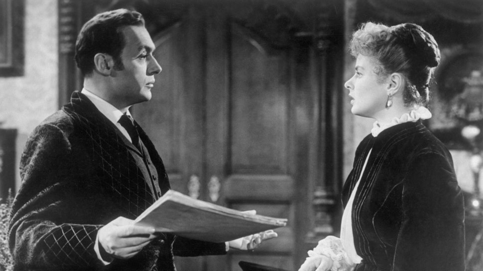 CHARLES BOYER (Gregory Anton), INGRID BERGMAN (Paula Alquist Anton) Regie: George Cukor / GASLIGHT USA, 1944.