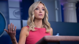 White House Press Secretary Kayleigh McEnany holds a press briefing at the White House in Washington, DC, June 8, 2020.