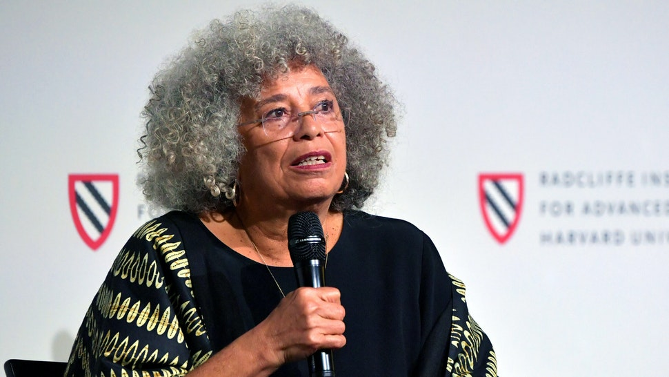 CAMBRIDGE, MA - OCTOBER 29: Angela Davis speaks at the 'Keynote Conversation' at the Radcliffe Institute's 'Radical Commitments: The Life and Legacy of Angela Davis' on October 29, 2019 in Cambridge, Massachusetts. The Schlesinger Library at Radcliffe, in partnership with the Hutchins Center for African & Africn Americn research, recently acquired the Angela Y. Davis archive collection.