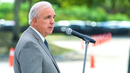 DORAL, FL - JUNE 18: Miami-Dade County Mayor Carlos A. Gimenez speaks during BioReference Laboratories hosts Grand Opening of COVID-19 (Coronavirus) Antibody Testing Collection Event at the Miami International Mall with local Government Officials providing opening remarks on June 18, 2020 in Doral, Florida