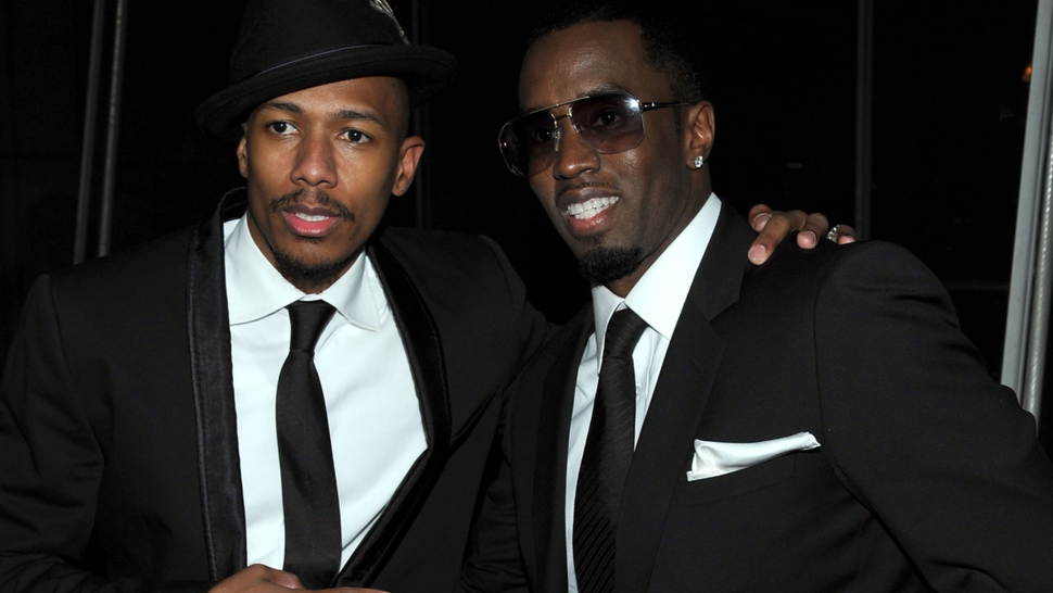 """NEW YORK - DECEMBER 09: Actor Nick Cannon (L) and Sean """"Diddy"""" Combs attend City Of Hope's Music and Entertainment Industry Presents The Roast Of Stephen Hill at Jazz at Lincoln Center on December 9, 2010 in New York City."""