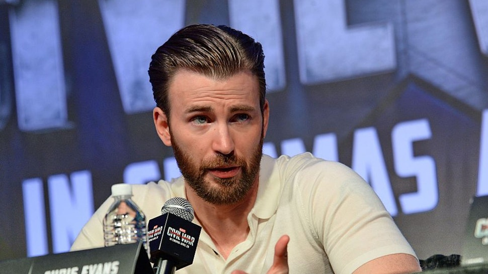 US actor Chris Evans attends a press conference at Marina Bay Sands in Singapore on April 21, 2016, during a press tour to promote the latest Marvel installment, Captain America: Civil War which will hit the screens on April 28. Director Joe Russo and US actors Sebastian Stan, Chris Evans and Anthony Mackie are in Singapore for the press tour.