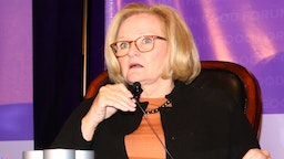 Errol Louis and Claire McCaskill speak onstage at The Common Good Forum & American Spirit Awards 2019 at The Roosevelt Hotel on May 10, 2019 in New York City.